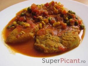 Cotlet de porc cu legume mexicane